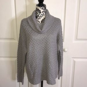 Gray sweater with silver sparkle
